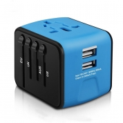 All-in-one Travel Adapter Power Adapter Plug Adapter with 2 USB Ports for UK/EU/US/AU (SL199)
