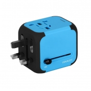 All-in-one Travel Adapter Power Adapter Plug Adapter with 2 USB Ports for UK/EU/US/AU (SL176)