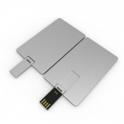 4GB Metal Credit Card USB Flash Drive Memory Stick for Business Gift (KP02)