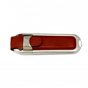 4GB Leather USB Flash Drive Memory Stick for Business Gift (LE02)