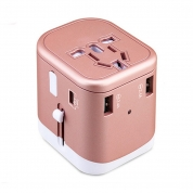 Travel Adapter Plugs Sockets US/AU/UK/EU Adpater 3USB+typeC Converter with 3 USB Charger (JY166)