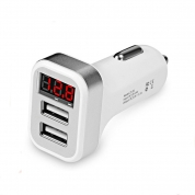 USB Car Charger Charging Power Adapter with 2 USB Port (UBL201)