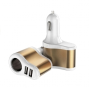 USB Car Charger Charging Power Adapter with 2 USB Port (UBL203)