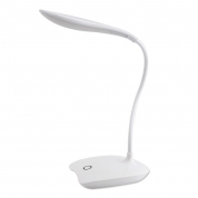 14 LED Desk Lamp USB Charging Reading Light 3 Modes Rechargeable White Desktop Lamp (DL01)
