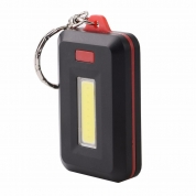 COB LED Keychain Flashlight 3 Modes Mini Torch Light Operated Flashlight (HLM06)