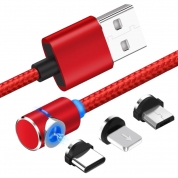 360 degree Free to use Magnetic USB Cable For iPhone Micro Type C Charger Fast USB Cord