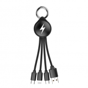 3 in 1 USB Cable Keychain Sync Data keychain charger